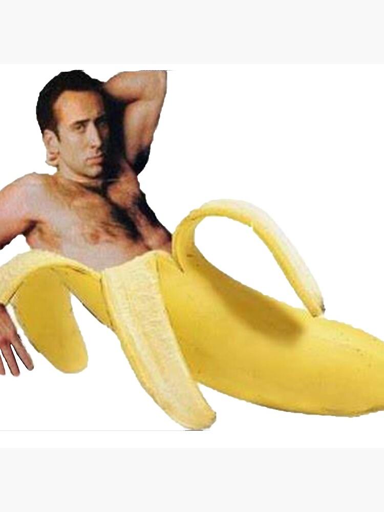 Nicolas Cage In A Banana - Original Yellow by tomohawk64