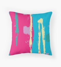 Bold Colour Abstract Expressionist Print Throw Pillow