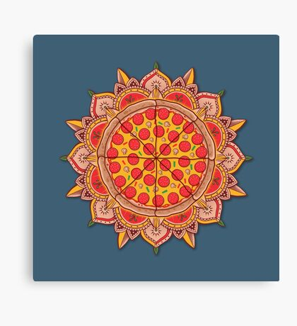 Sacred Pizza Canvas Print