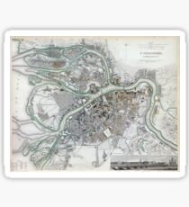 Plan of St Petersburg - Russia - 1834 Sticker