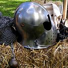 Medieval dented helmet by patjila
