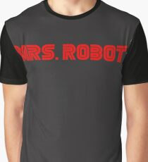 Mrs (miss) Robot Graphic T-Shirt