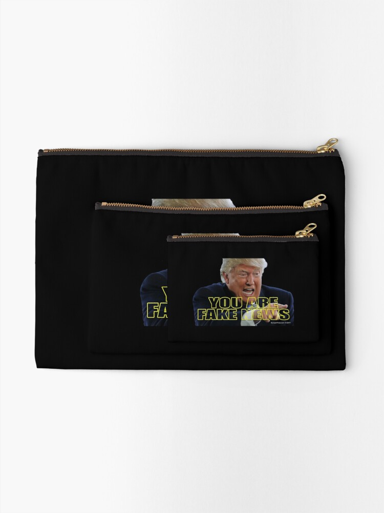 Alternate view of You Are Fake News Zipper Pouch