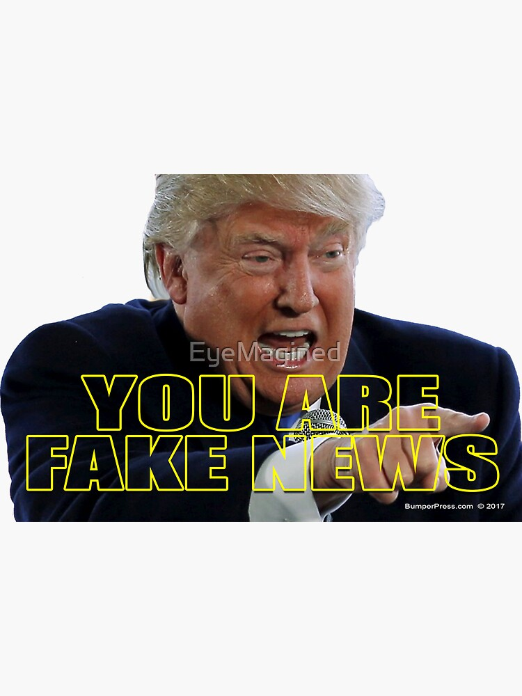 You Are Fake News by EyeMagined