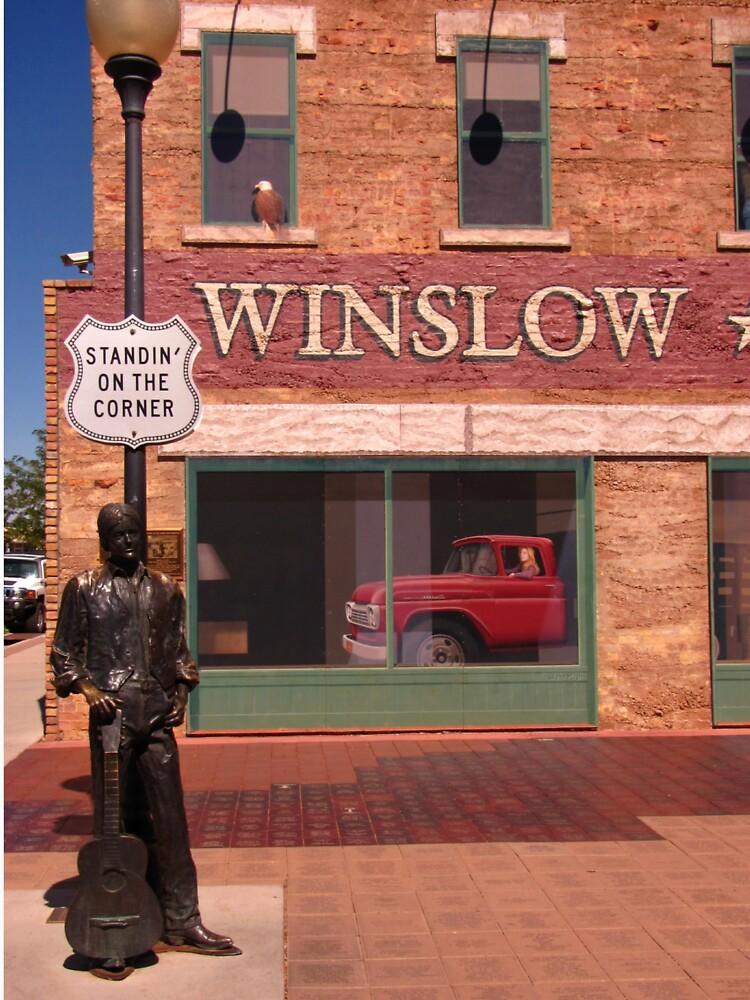 Standing on the Corner in Winslow Arizona by Johnhalifax