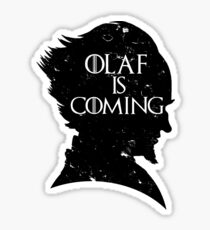 Olaf is Coming Sticker