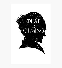 Olaf is Coming Photographic Print