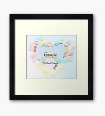 Gracie - my best friend Framed Print