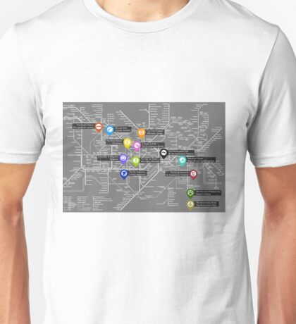 Sherlock Tube Map (Dark) Unisex T-Shirt