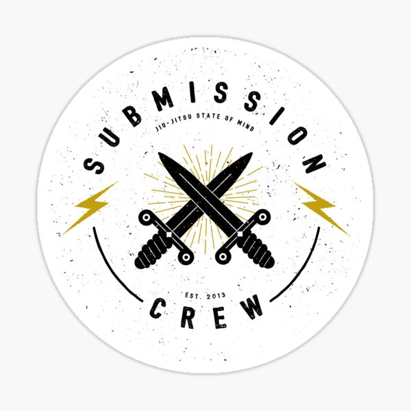 Jiu-jitsu. Submission crew. Sticker