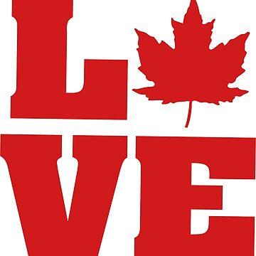 Happy 150th Birthday Canada! LOVE by IZZYBEEP