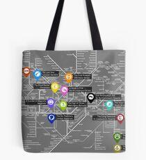Sherlock Tube Map (Dark) Tote Bag