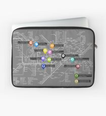 Sherlock Tube Map (Dark) Laptop Sleeve