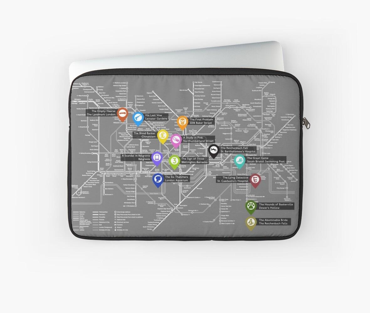 Sherlock Tube Map (Dark) by noodletoby