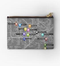 Sherlock Tube Map (Dark) Studio Pouch