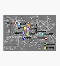 Sherlock Tube Map (Dark) Photographic Print