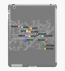 Sherlock Tube Map (Dark) iPad Case/Skin