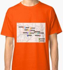 Sherlock Tube Map Classic T-Shirt