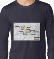 Sherlock Tube Map Long Sleeve T-Shirt