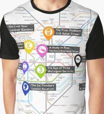 Sherlock Tube Map Graphic T-Shirt