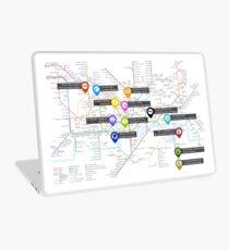 Sherlock Tube Map Laptop Skin