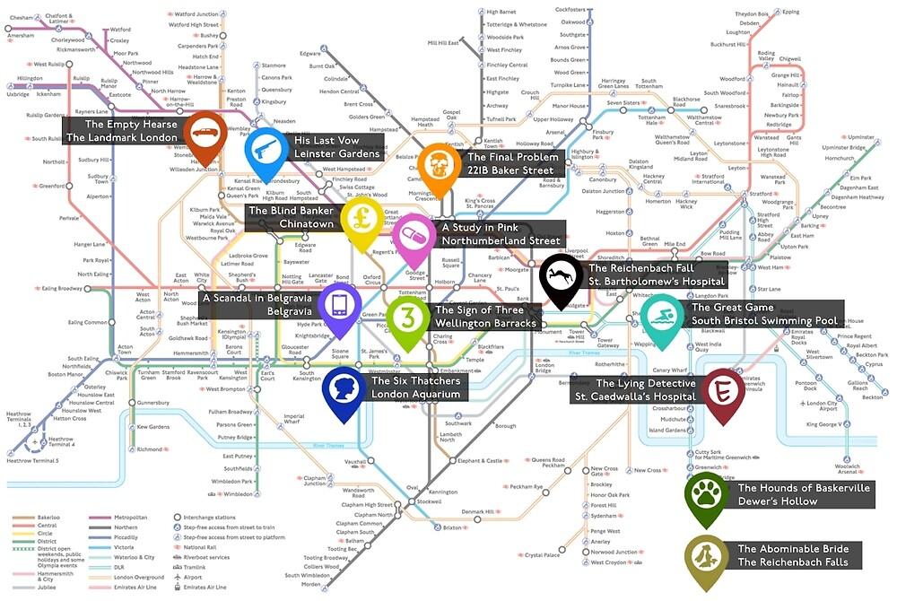 Sherlock Tube Map by noodletoby