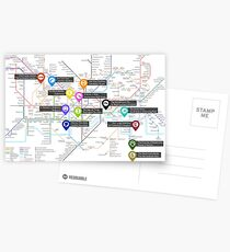 Sherlock Tube Map Postcards