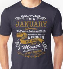 I'm an January women Unisex T-Shirt