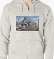 Penn Central pacific. Zipped Hoodie