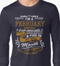 I'm an February women Long Sleeve T-Shirt
