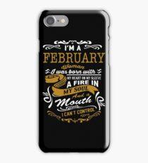 I'm an February women iPhone Case/Skin