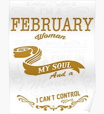 I'm an February women Poster