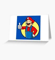 Vault Boy Super Mario Greeting Card
