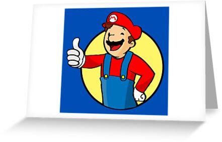 Vault Boy Super Mario by UnionTee