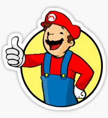 Vault Boy Super Mario Sticker