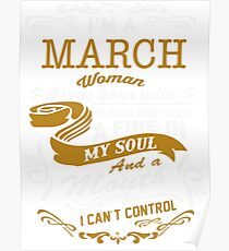 I'm a March women Poster