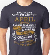 I'm an April women T-Shirt