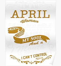 I'm an April women Poster