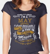 I'm a May women Women's Fitted Scoop T-Shirt
