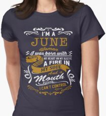 I'm a June women Womens Fitted T-Shirt
