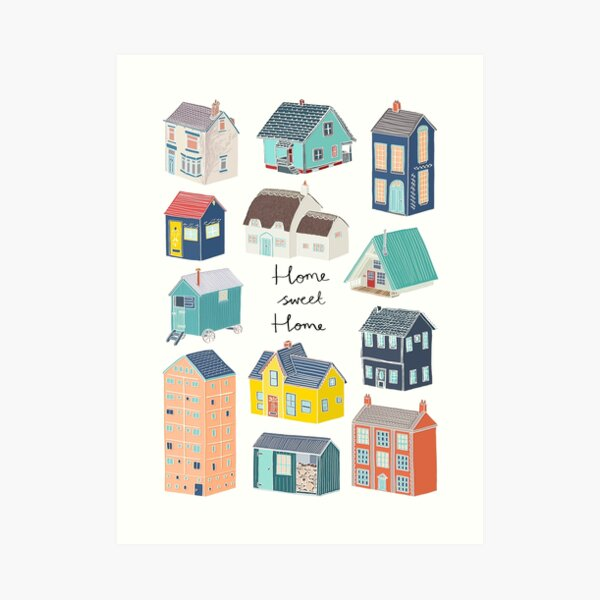 Home Sweet Home - Little Houses Art Print