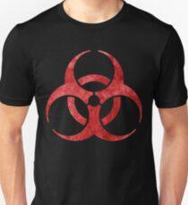Red Biohazard Symbol T-Shirt