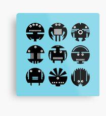 BLUE ROBOTS Metal Print
