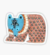 Pattern Bear Sticker