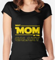 Best Mom In The Galaxy Women's Fitted Scoop T-Shirt