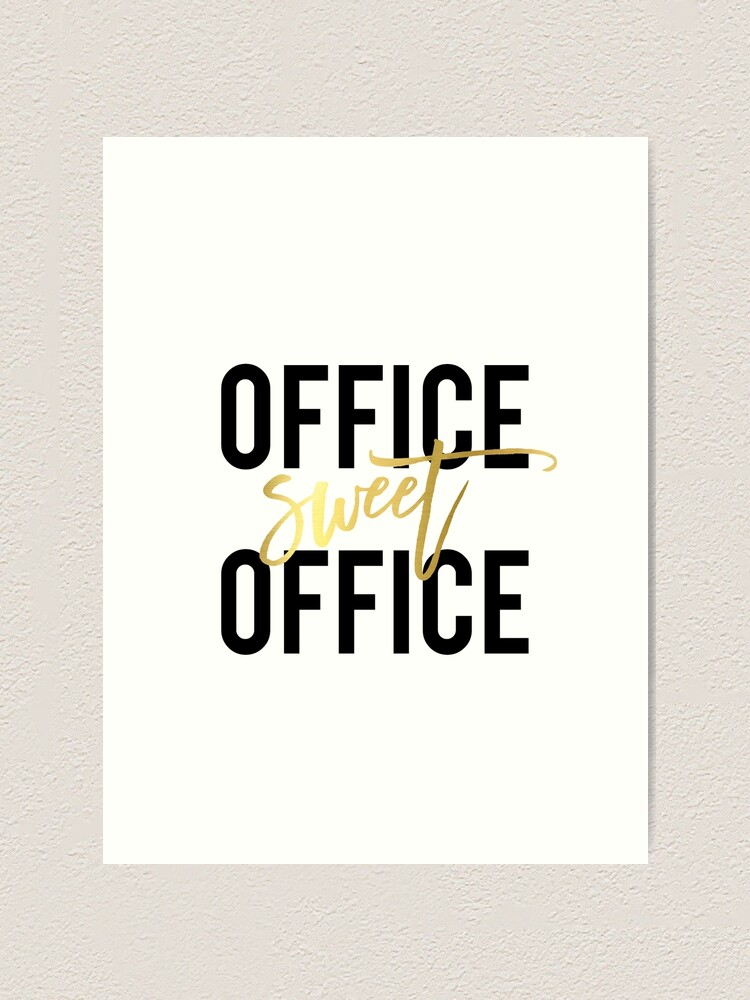 Office Sweet Office Printable Wall Art 8x10 Art Print Home Office Poster Work Print Black And White Calligraphy Office Decor Art Print