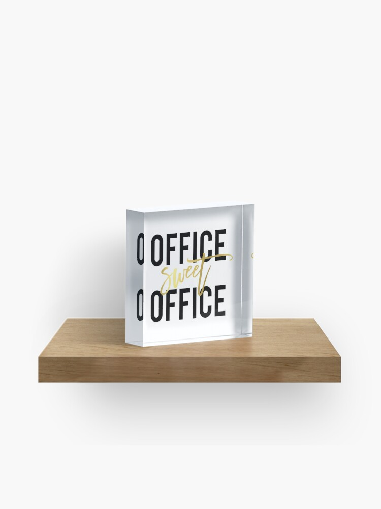Office Sweet Office Printable Wall Art 8x10 Art Print Home Office Poster Work Print Black And White Calligraphy Office Decor Acrylic Block