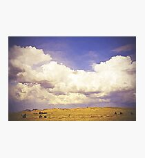Surreal countryside cloudscape Photographic Print
