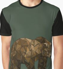 Geometric Bear Graphic T-Shirt