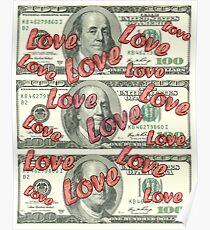 Dollars love pattern 2 Poster